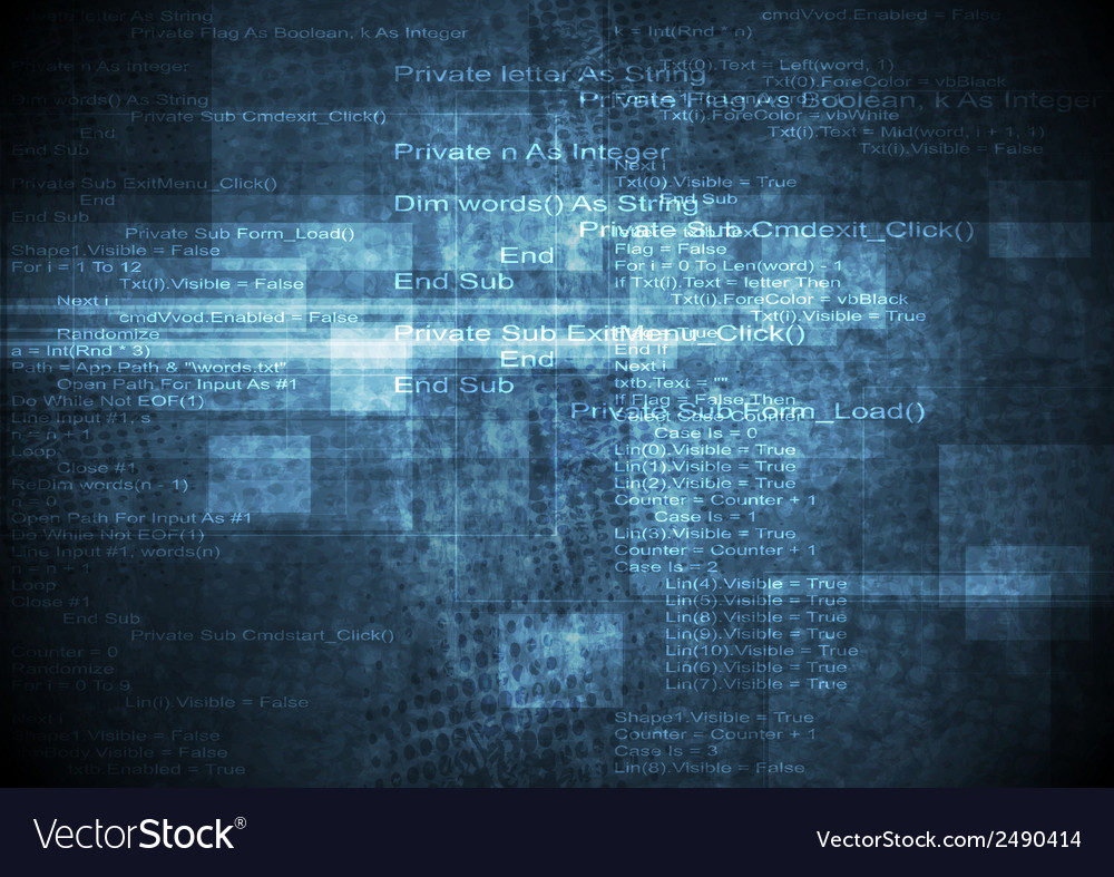 Dark blue grunge technical background vector | Price: 1 Credit (USD $1)