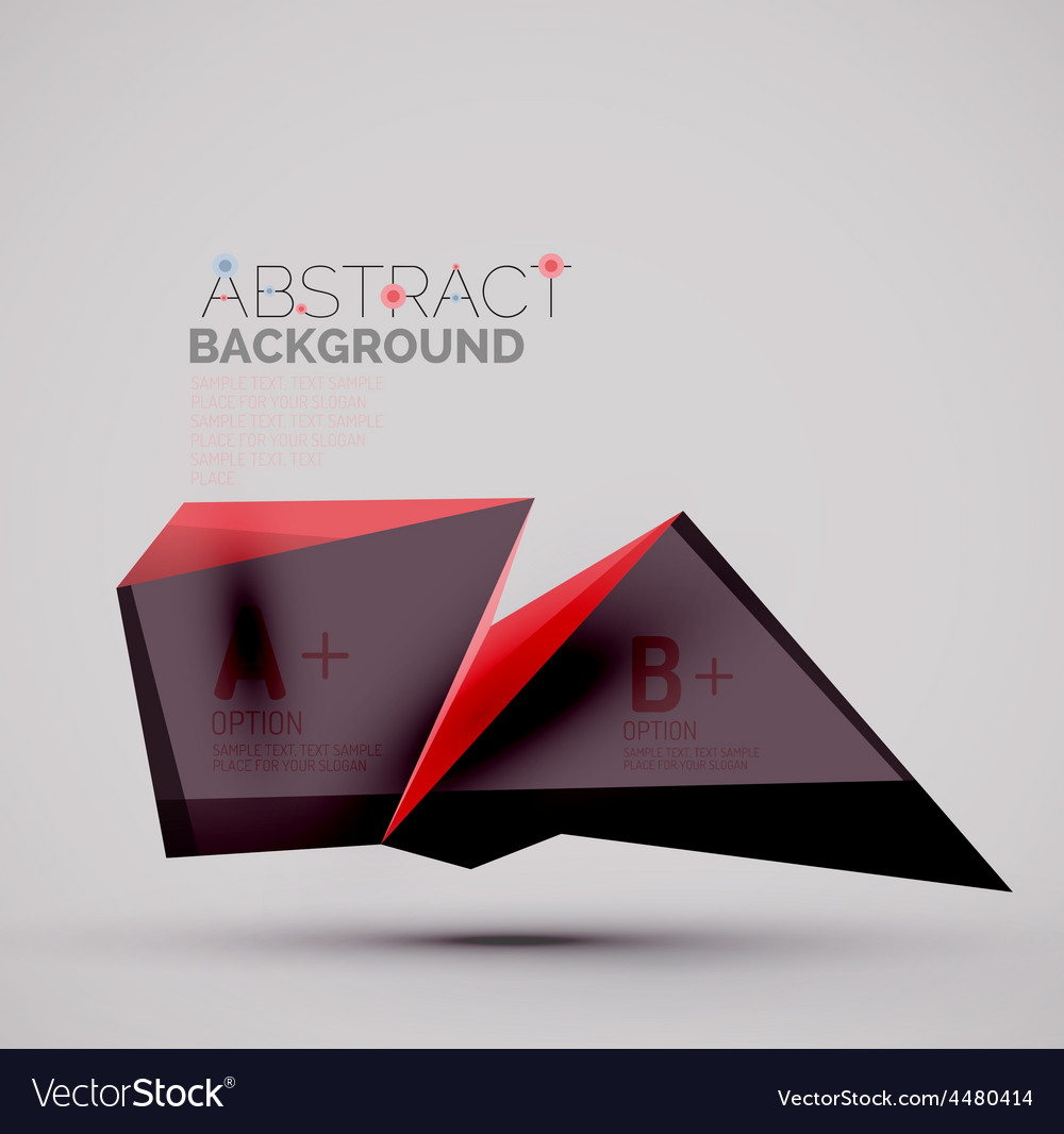 Geometric shapes with sample text abstract vector | Price: 1 Credit (USD $1)