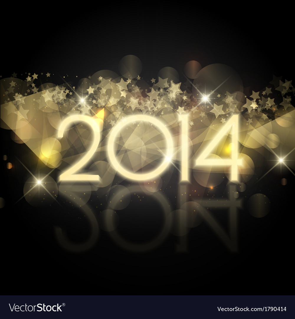 Happy new year background with a starry design vector | Price: 1 Credit (USD $1)