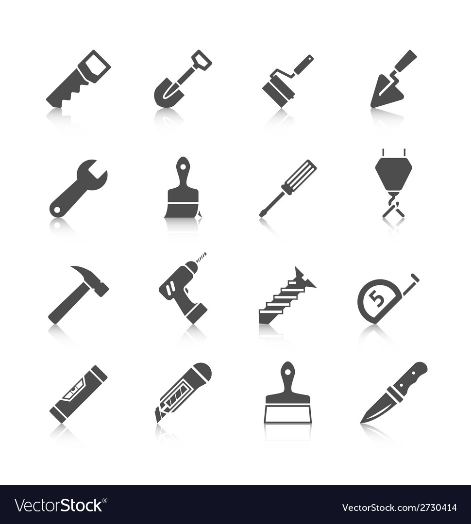 Home repair tools icons vector | Price: 1 Credit (USD $1)