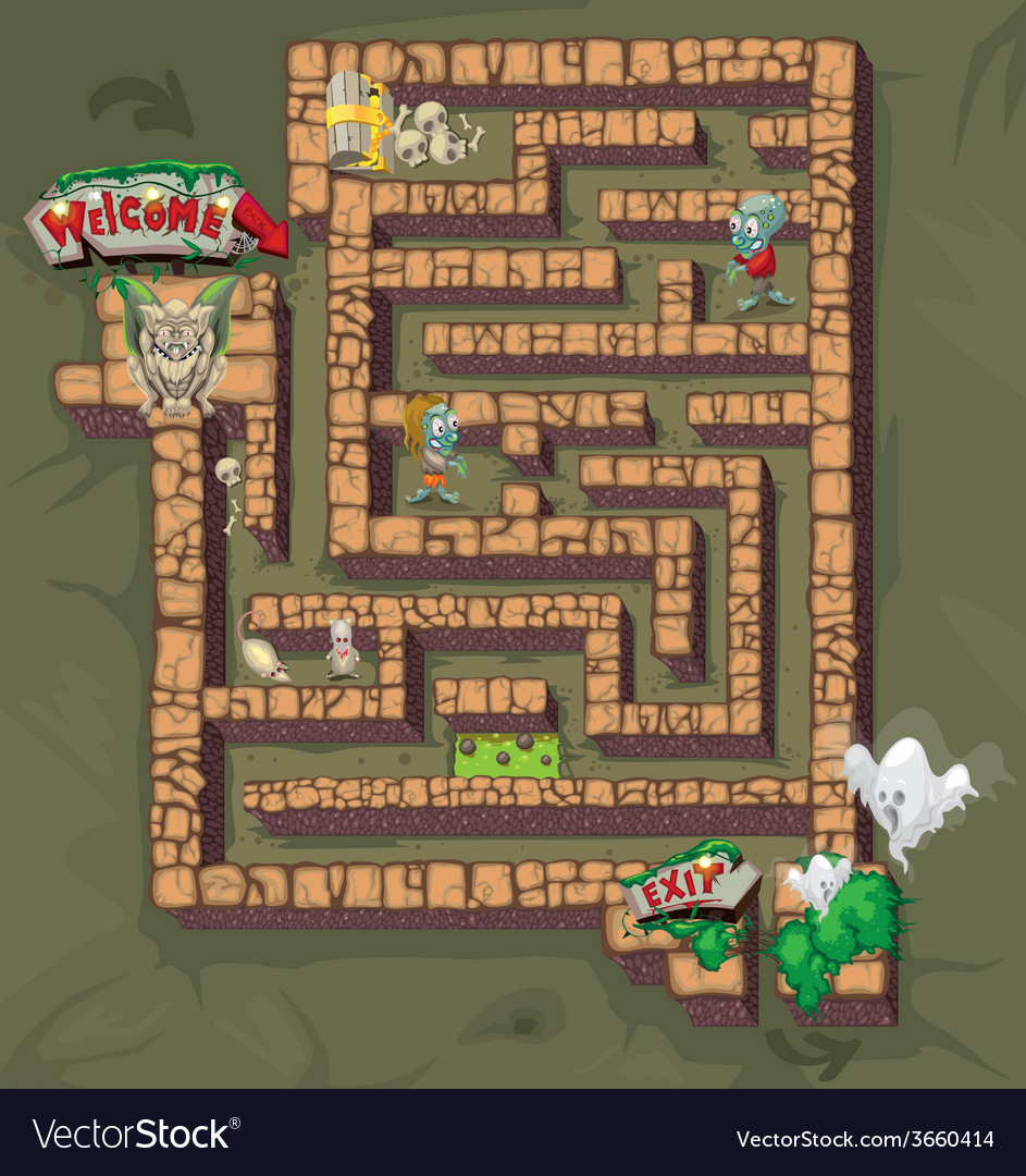 Maze horror vector | Price: 1 Credit (USD $1)