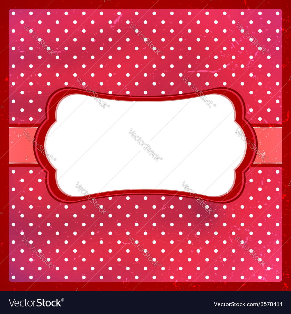 Polka dot vintage frame vector | Price: 1 Credit (USD $1)