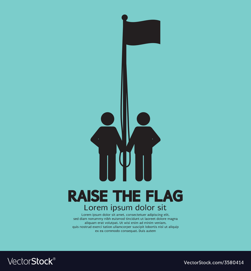 Raise the flag symbol vector | Price: 1 Credit (USD $1)