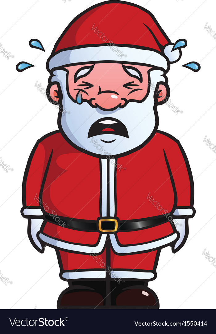 Santa claus crying vector | Price: 1 Credit (USD $1)