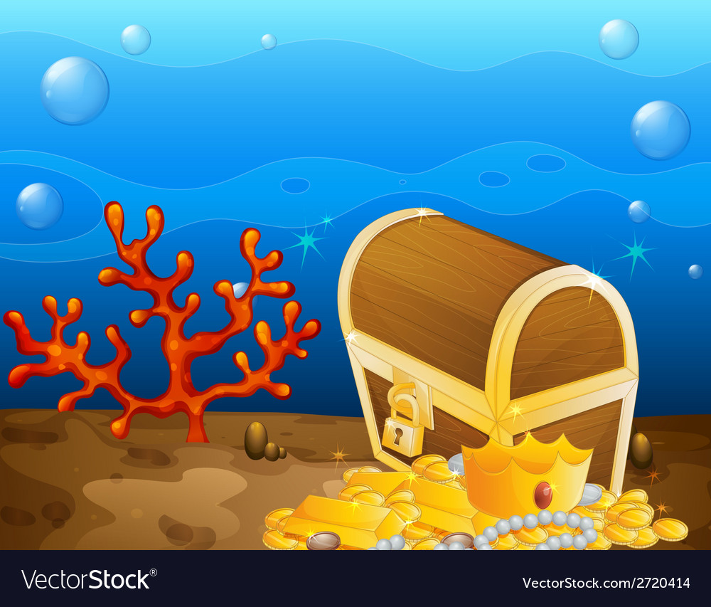 Underwater treasure vector | Price: 1 Credit (USD $1)
