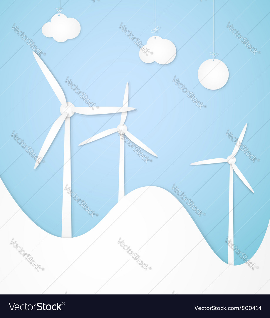 Windmills alternative energy vector | Price: 1 Credit (USD $1)