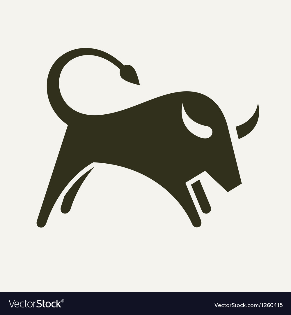Bull silhouette vector | Price: 1 Credit (USD $1)