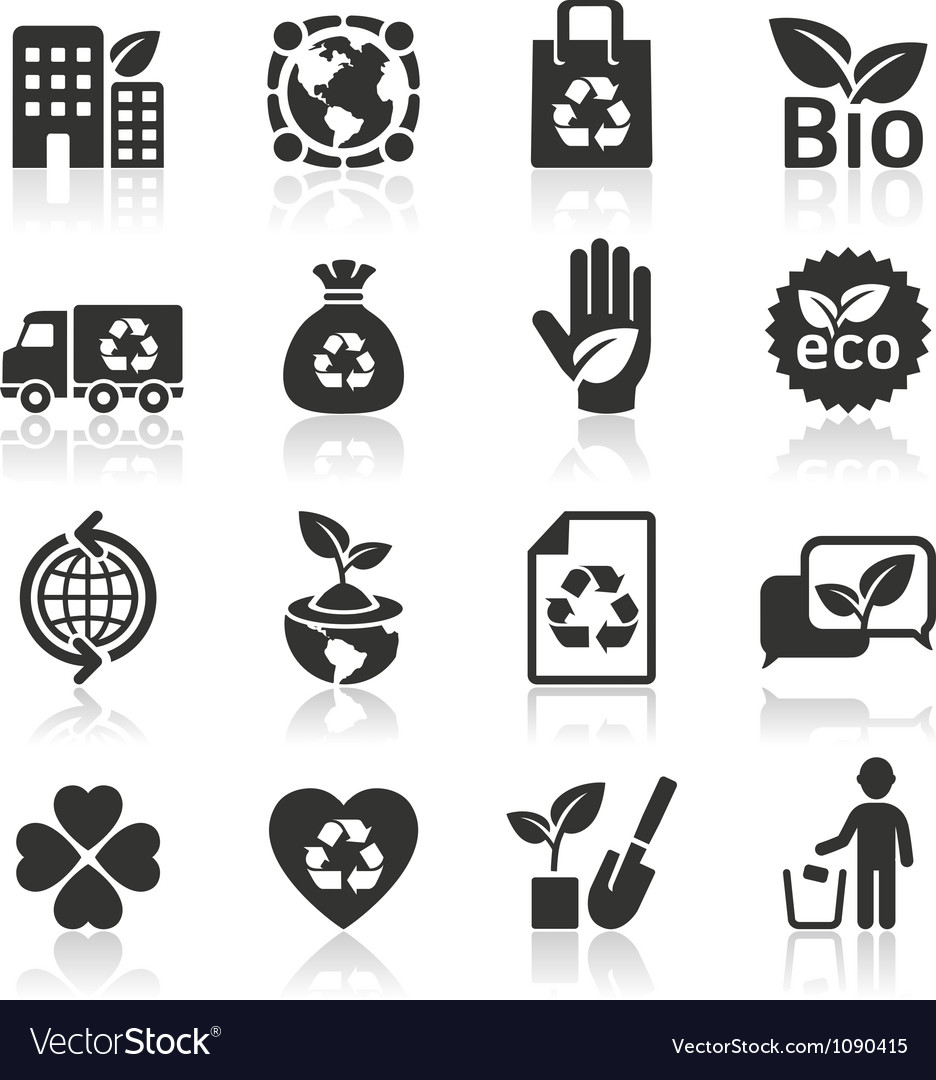 Ecology icons set4 vector | Price: 1 Credit (USD $1)