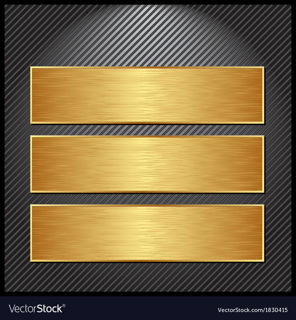 Golden banner vector | Price: 1 Credit (USD $1)