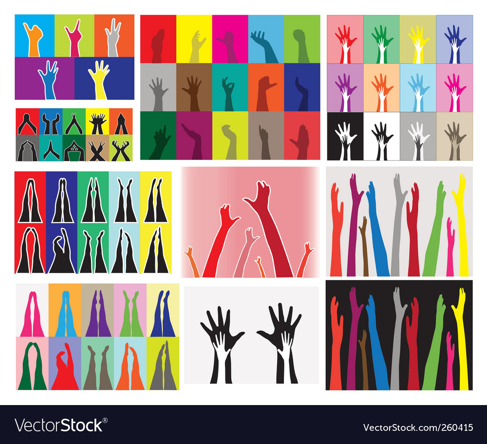 Hands and legs silhouettes vector | Price: 1 Credit (USD $1)