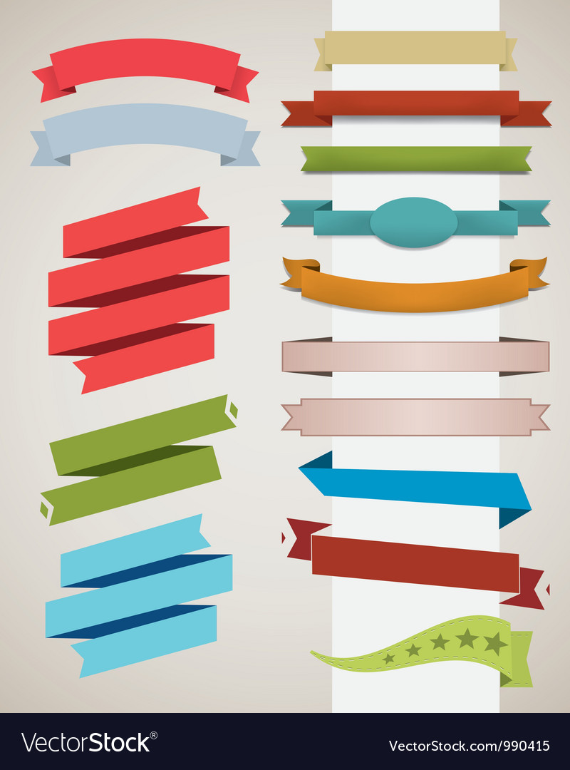 Ribbon set vector | Price: 1 Credit (USD $1)