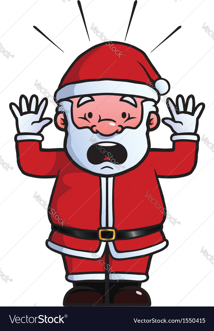 Santa claus being shocked vector | Price: 1 Credit (USD $1)