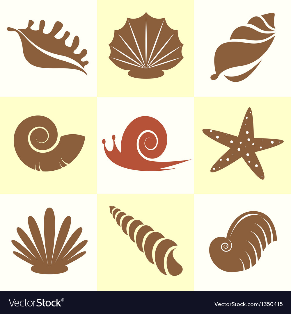 Shellfish and snail vector | Price: 1 Credit (USD $1)