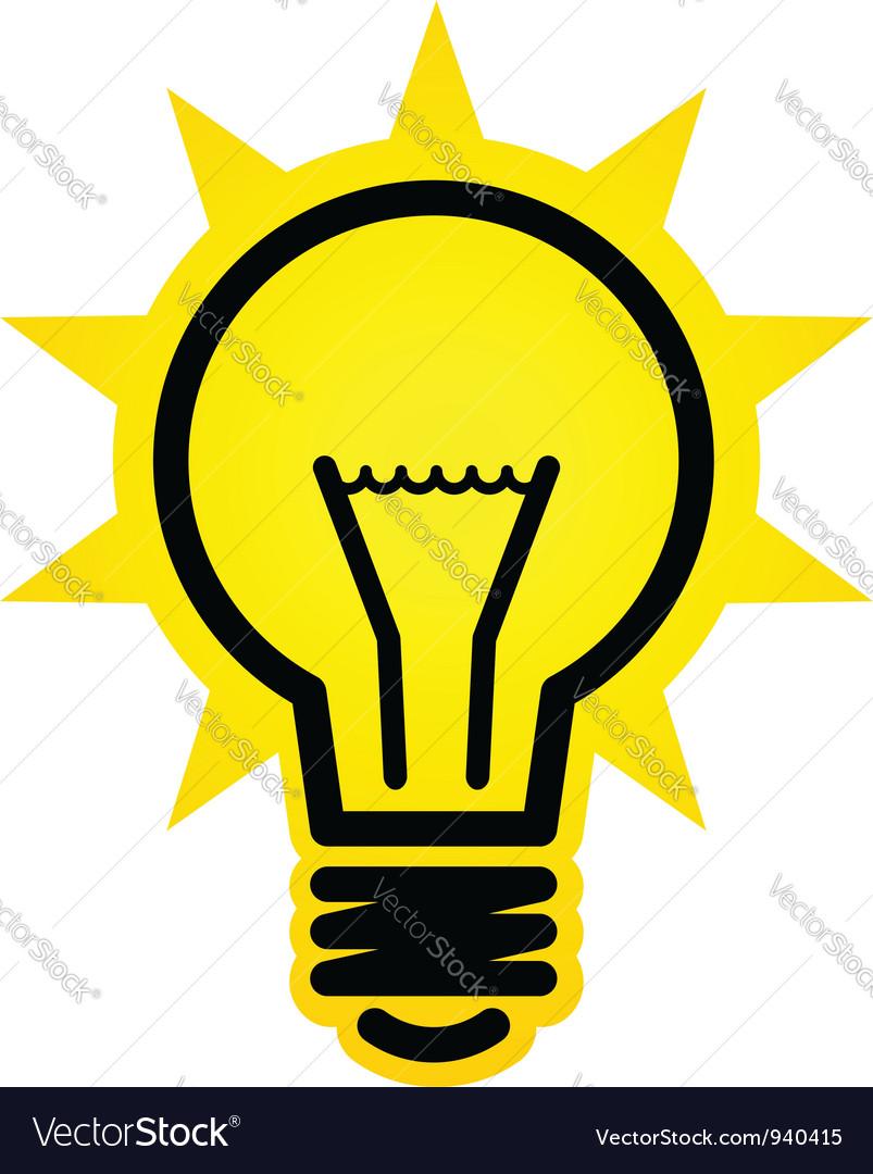 Shining light bulb icon vector | Price: 1 Credit (USD $1)