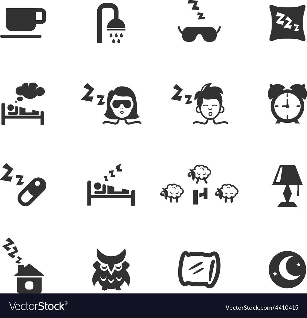 Sleep icons vector | Price: 1 Credit (USD $1)