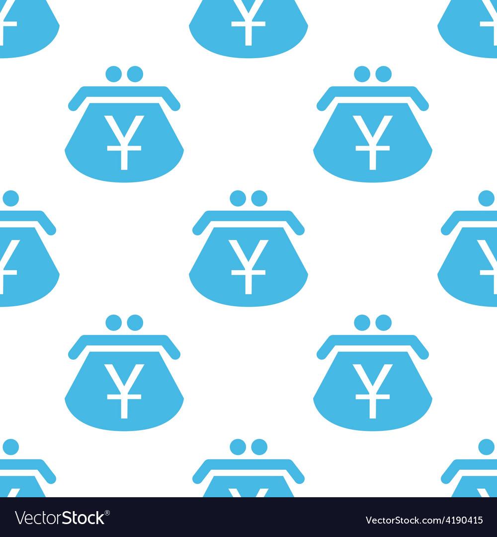 Yen purse seamless pattern vector | Price: 1 Credit (USD $1)