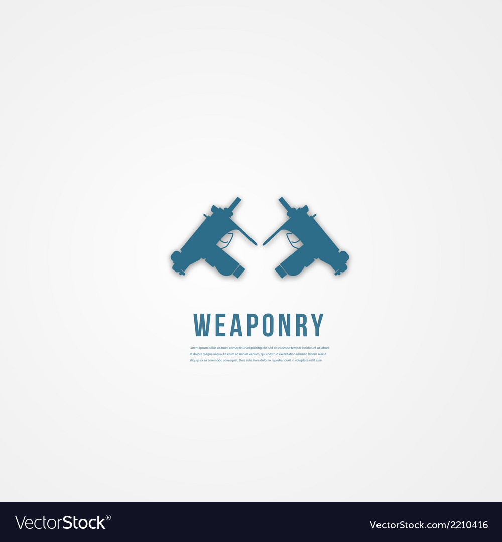 Abstact weapon template flat icon vector | Price: 1 Credit (USD $1)
