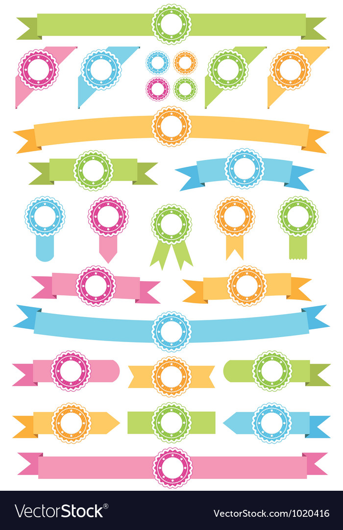 Badges and ribbons vector | Price: 1 Credit (USD $1)