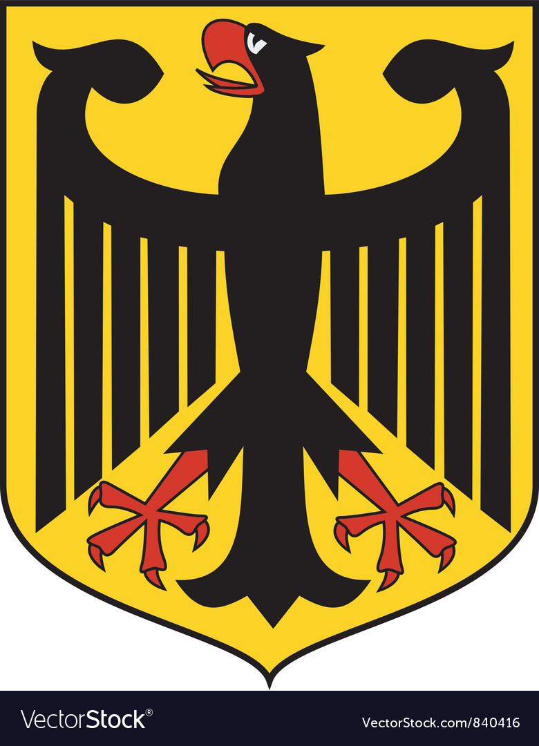 Coat of arms of germany vector | Price: 1 Credit (USD $1)