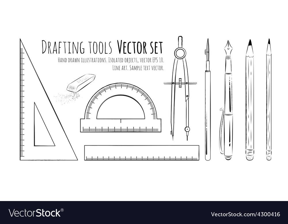 Drafting tools vector | Price: 1 Credit (USD $1)