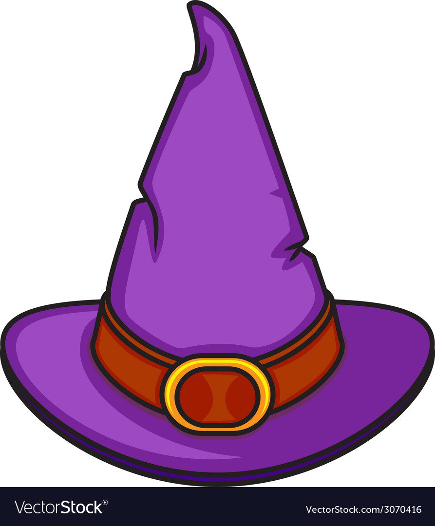 Halloween cartoon witch hat isolated on white vector | Price: 1 Credit (USD $1)