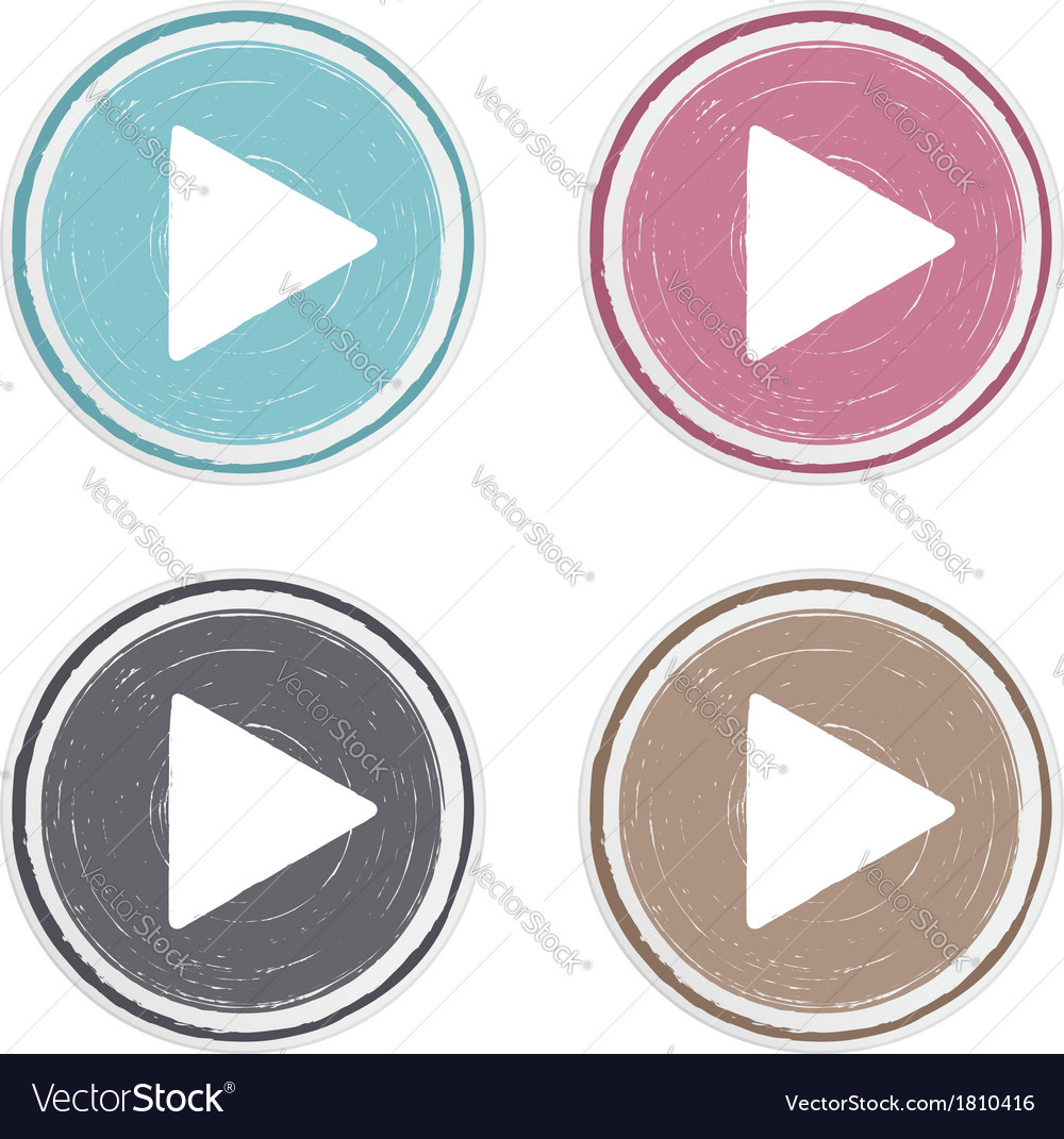 Hand drawn play buttons vector | Price: 1 Credit (USD $1)