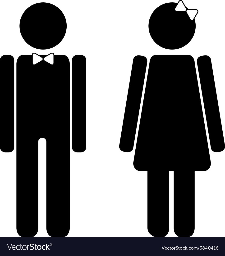 Man and woman restroom sign vector | Price: 1 Credit (USD $1)