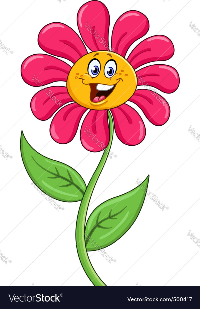 Cartoon flower vector | Price: 1 Credit (USD $1)