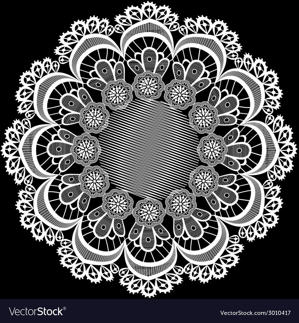 Circular pattern with flowers from lace vector | Price: 1 Credit (USD $1)