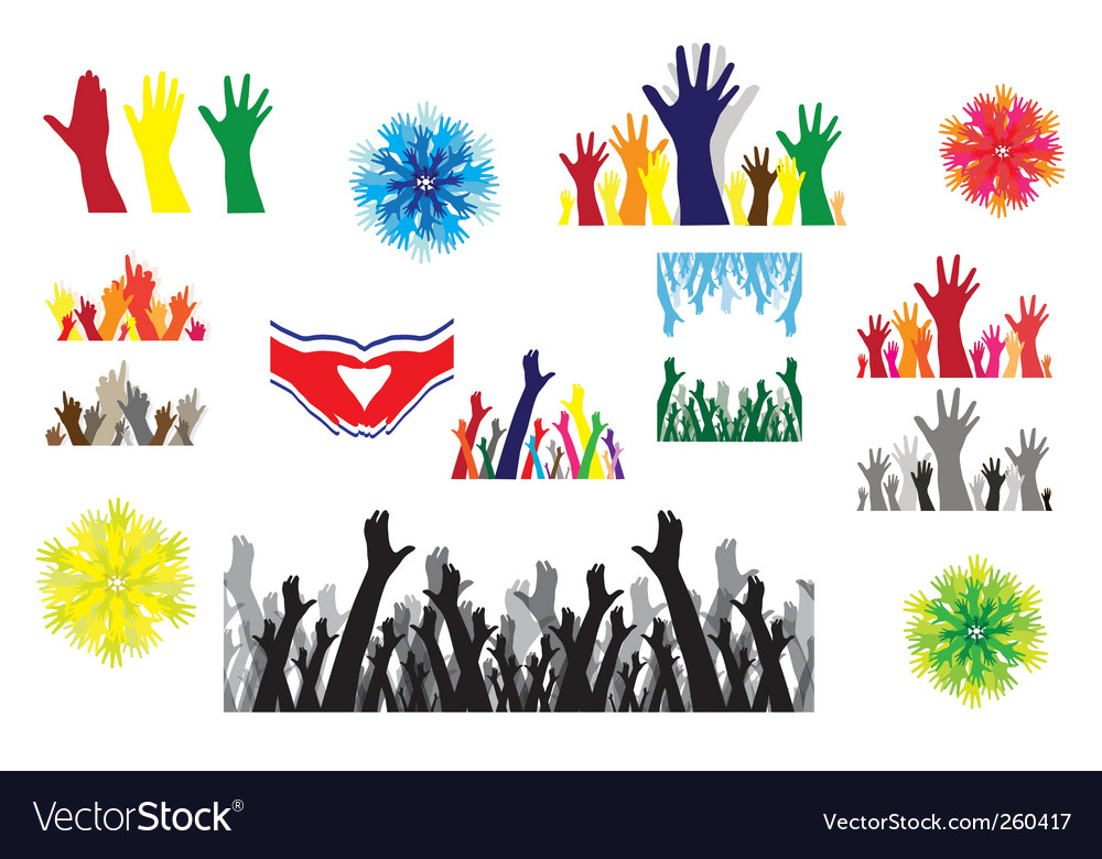 Human hands silhouettes vector   Price: 1 Credit (USD $1)
