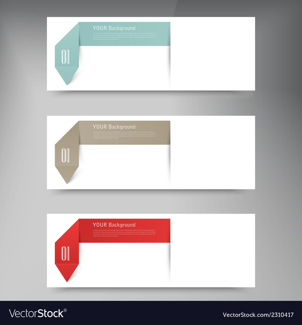 Modern business origami style options banner vector | Price: 1 Credit (USD $1)