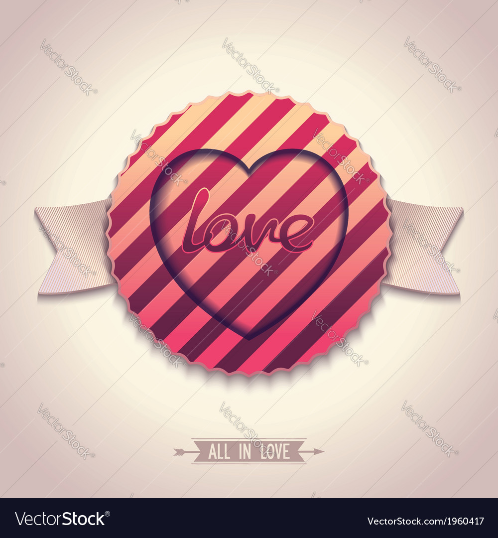 Old-fashioned label for love vector | Price: 1 Credit (USD $1)