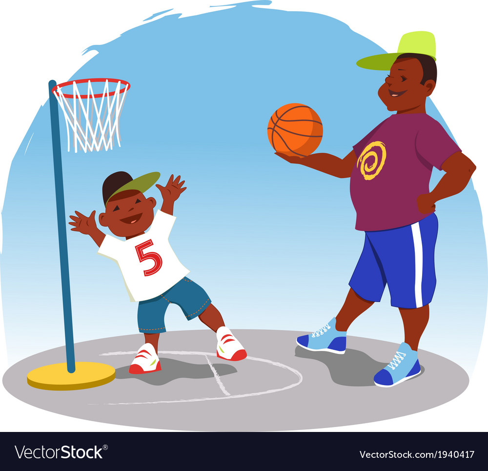 Shooting hoops vector | Price: 1 Credit (USD $1)