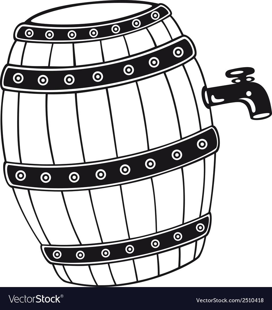 Barrel with beer vector   Price: 1 Credit (USD $1)