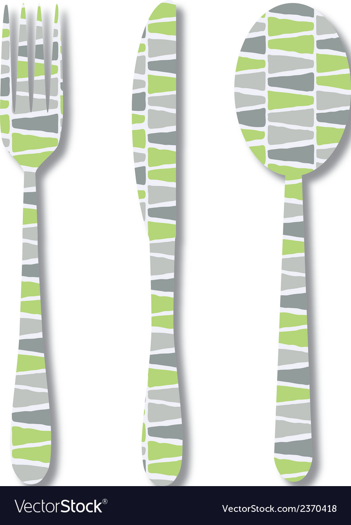 Cutlery with pattern vector | Price: 1 Credit (USD $1)
