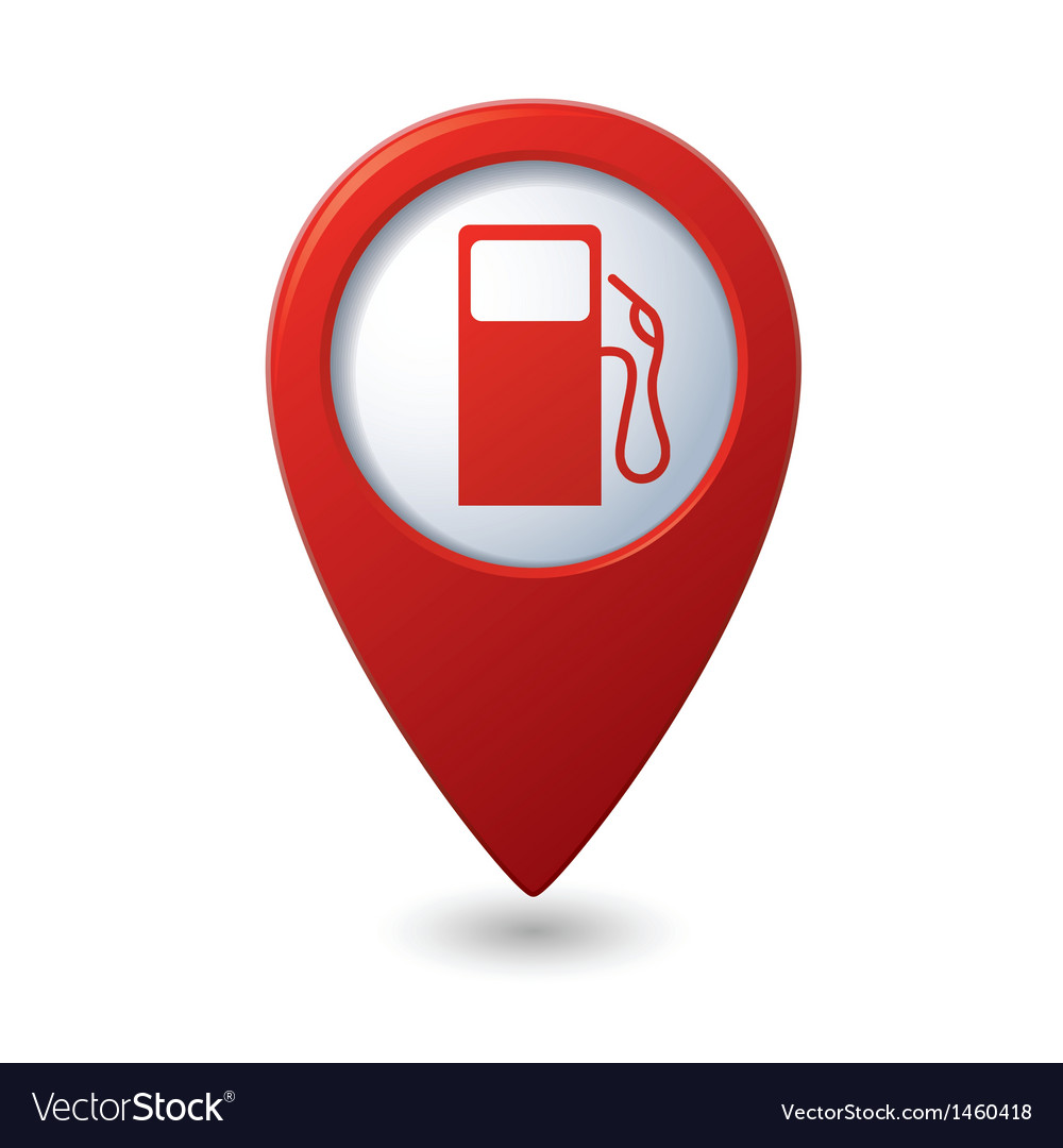 Gas station red map pointer vector | Price: 1 Credit (USD $1)