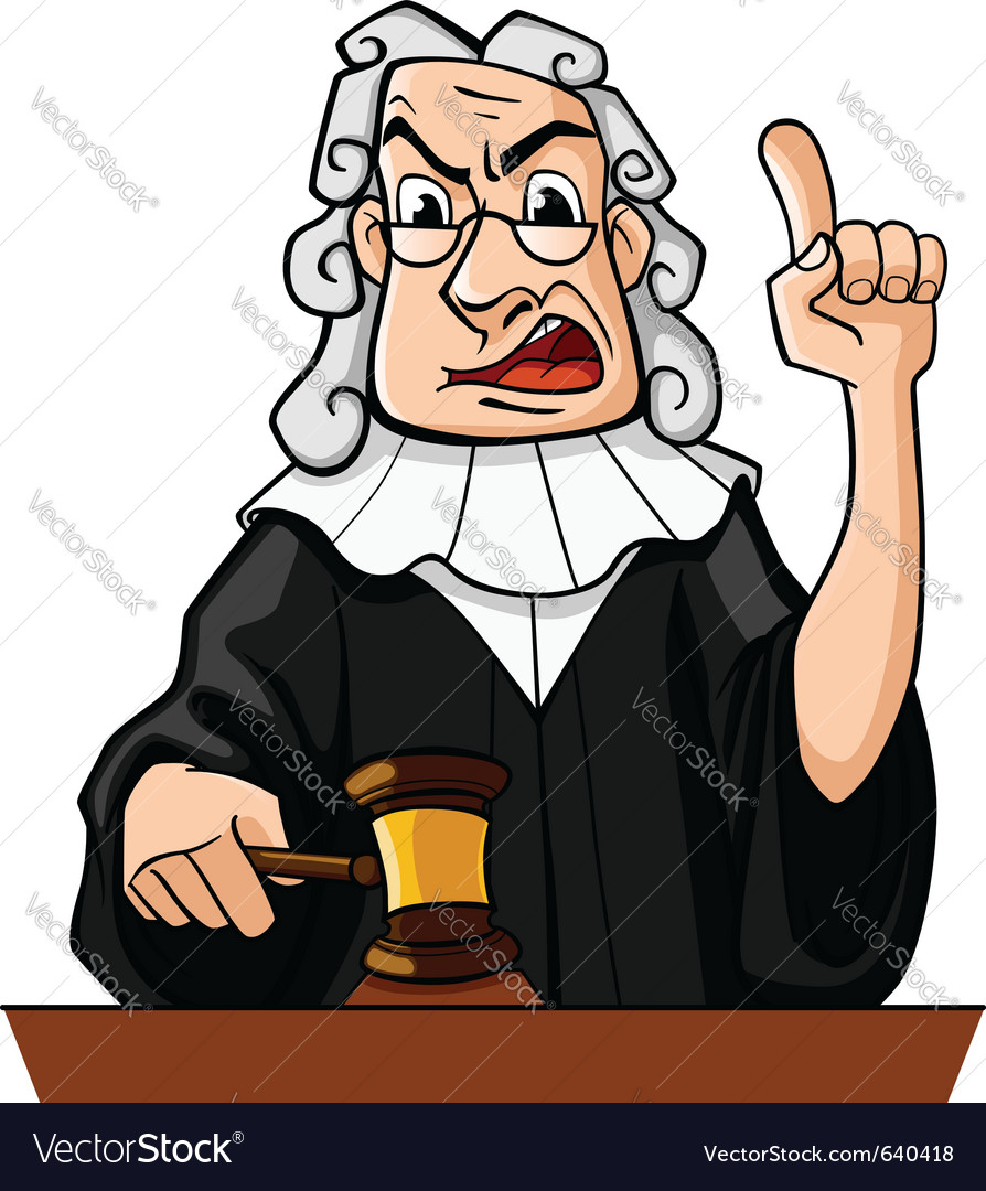 Judge with gavel vector | Price: 1 Credit (USD $1)