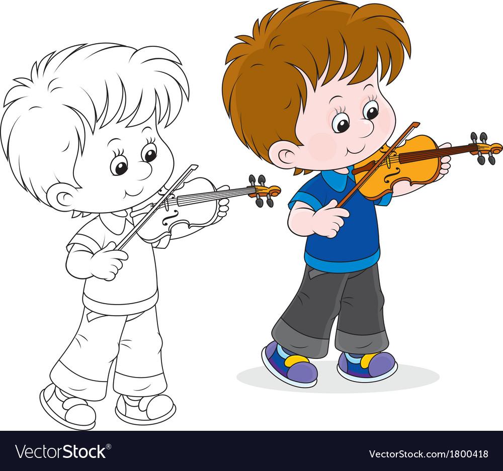 Little violinist vector | Price: 1 Credit (USD $1)
