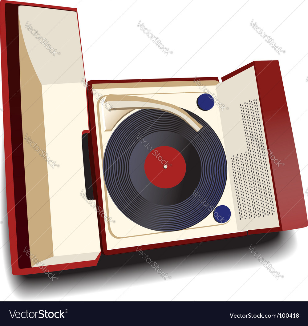 Old fashioned record player vector | Price: 1 Credit (USD $1)