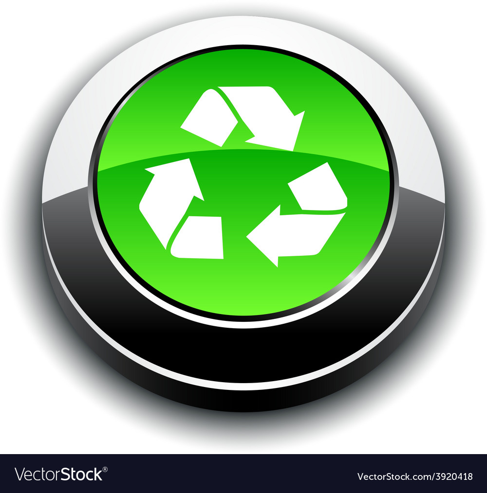 Recycle 3d round button vector   Price: 1 Credit (USD $1)