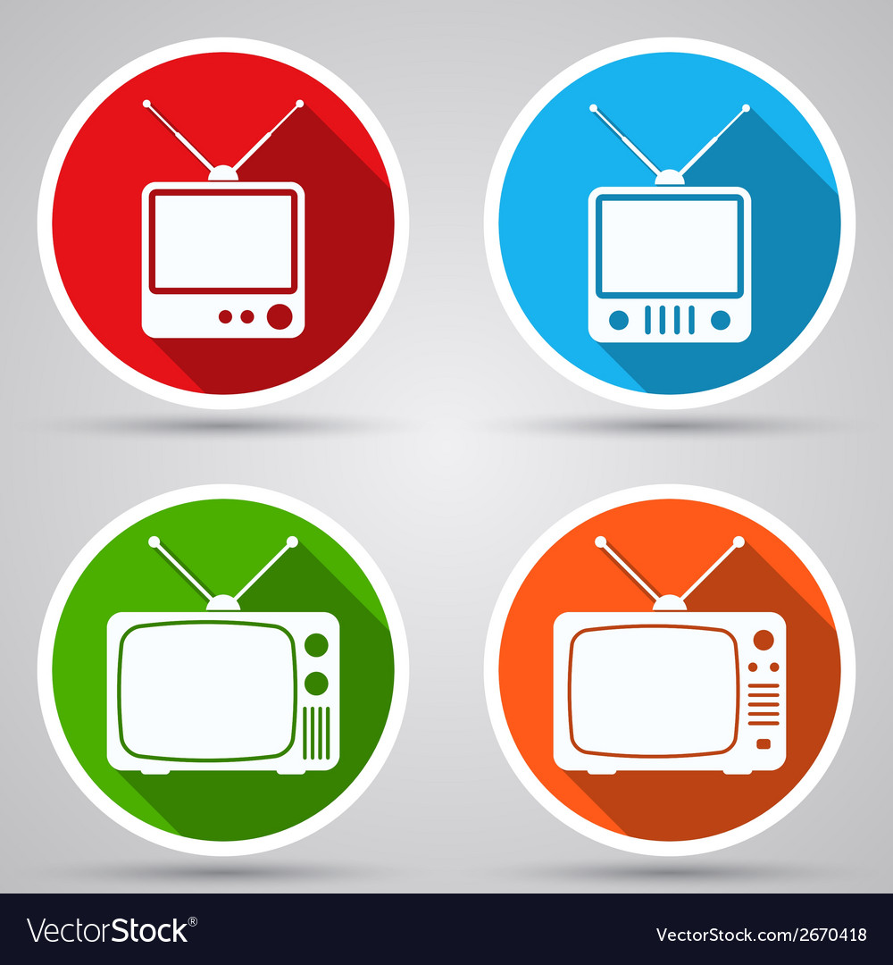 Retro tv sets collection vector | Price: 1 Credit (USD $1)