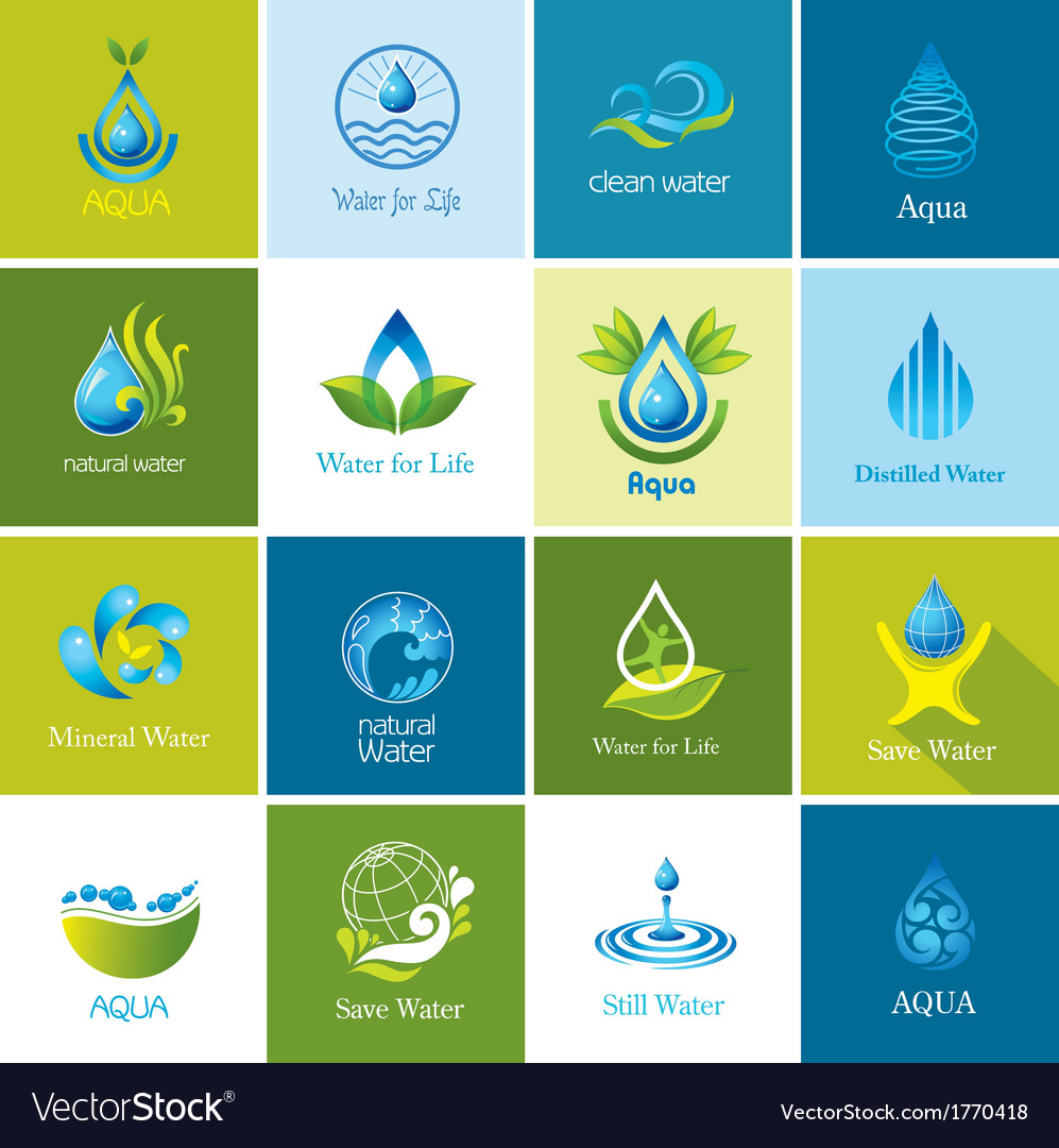 Set of water icons vector | Price: 1 Credit (USD $1)