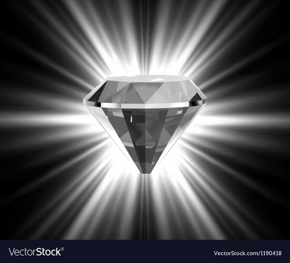 Shiny bright diamond vector | Price: 1 Credit (USD $1)