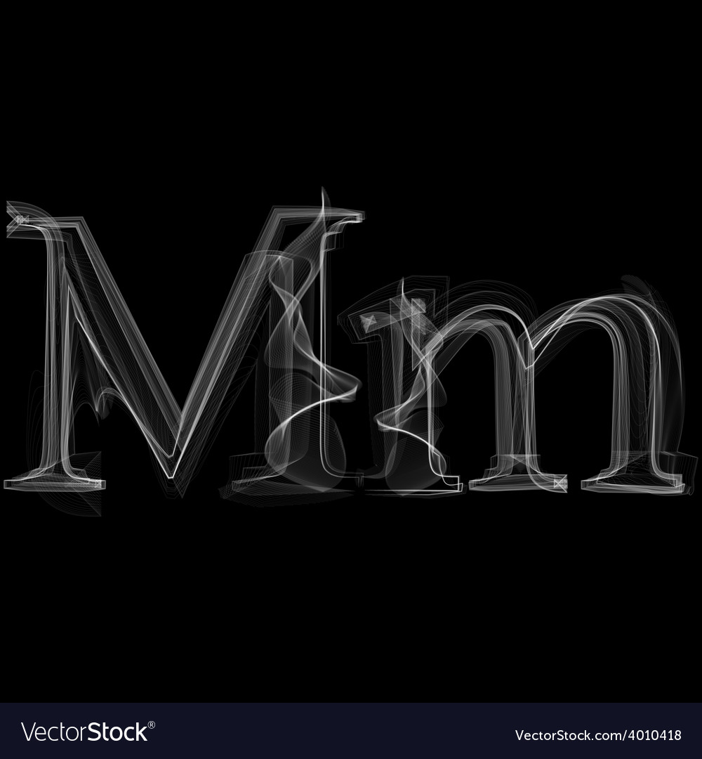 Smoke font letter m vector | Price: 1 Credit (USD $1)