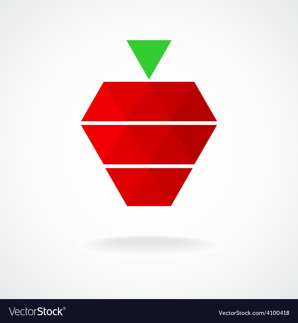 Stylized geometric strawberry logo template vector | Price: 1 Credit (USD $1)