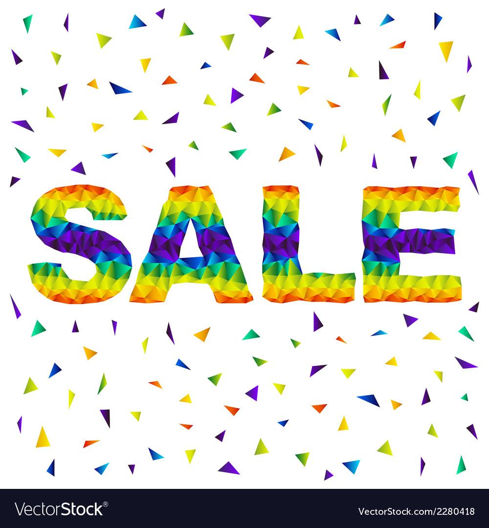 Triangular sale vector | Price: 1 Credit (USD $1)
