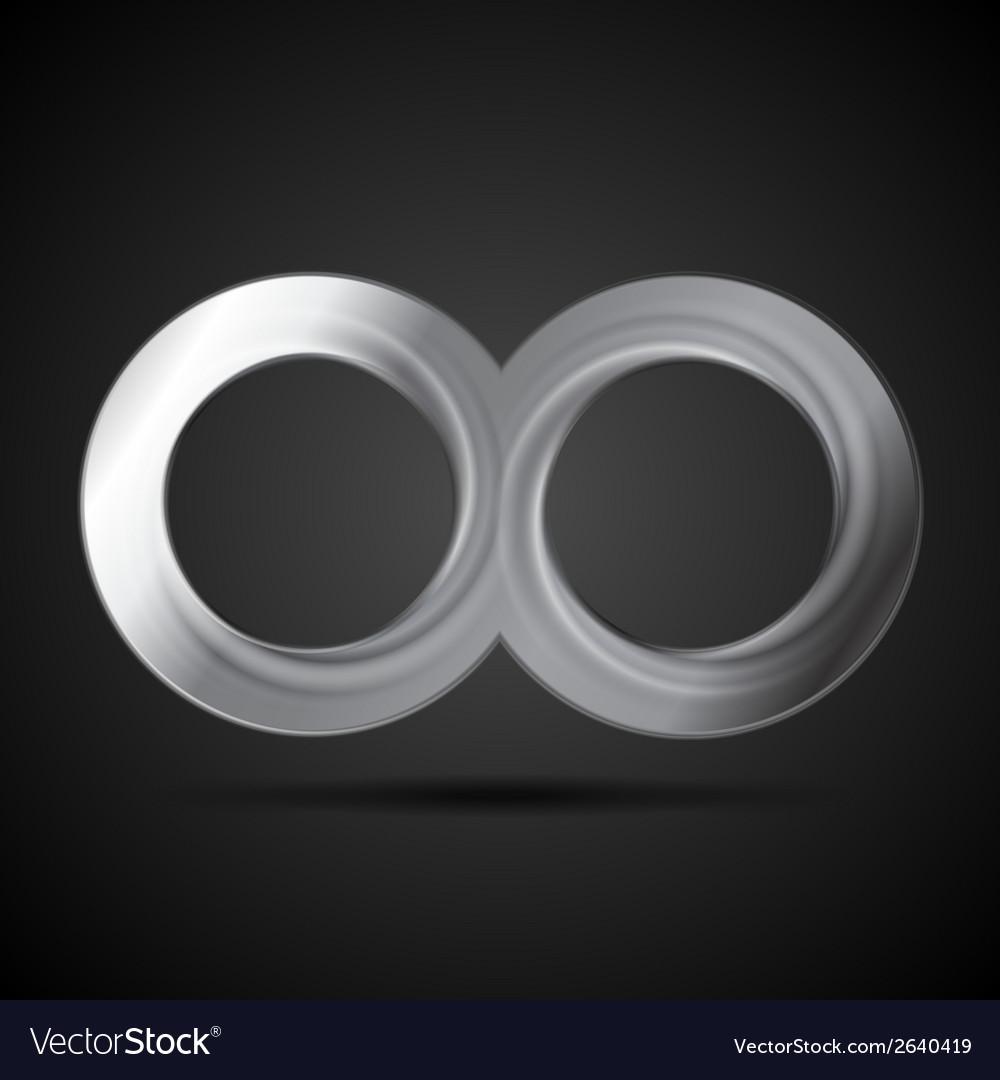 Abstract metallic infinity sign logo vector | Price: 1 Credit (USD $1)