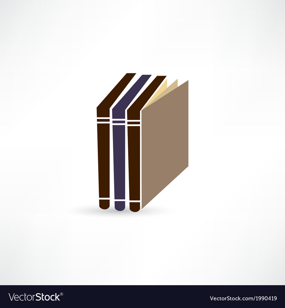 Books icon vector | Price: 1 Credit (USD $1)