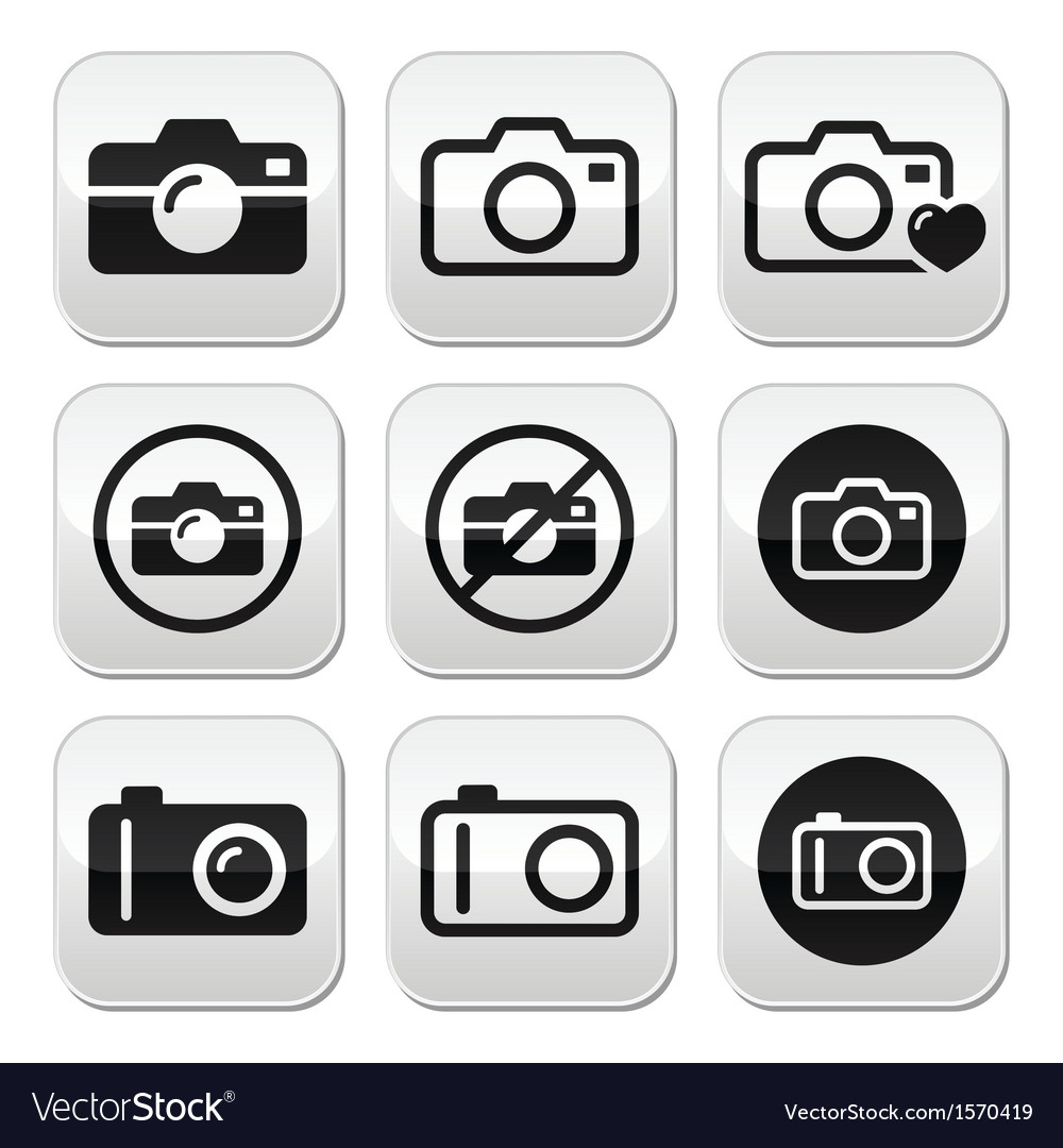 Camera buttons set vector | Price: 1 Credit (USD $1)
