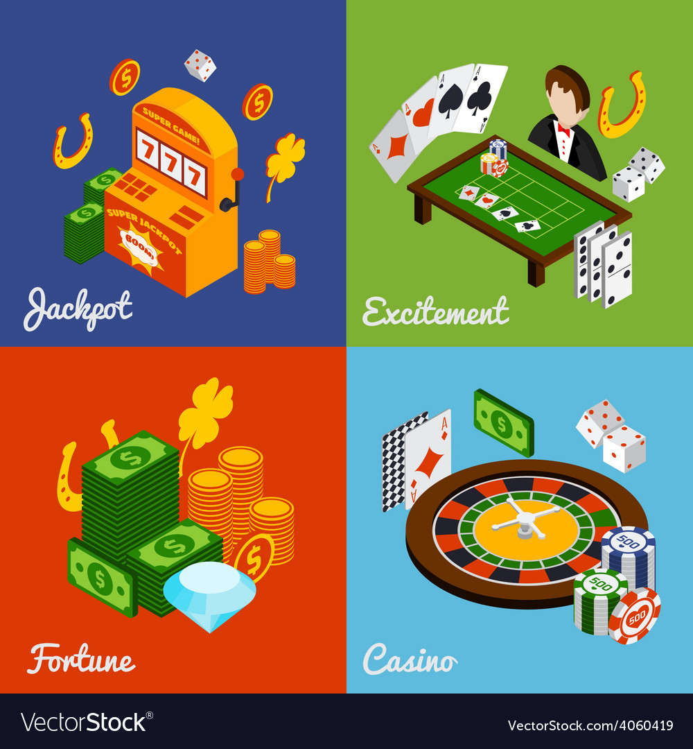 Casino isometric set vector | Price: 1 Credit (USD $1)